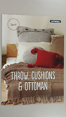 Patons Pattern Leaflet #0018 Throw Cushions & Ottoman to Knit in Inca Wool