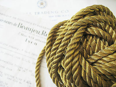 """Vintage Antique French Gold Metallic Rope Cord Trim 3/16""""  Pillow"""