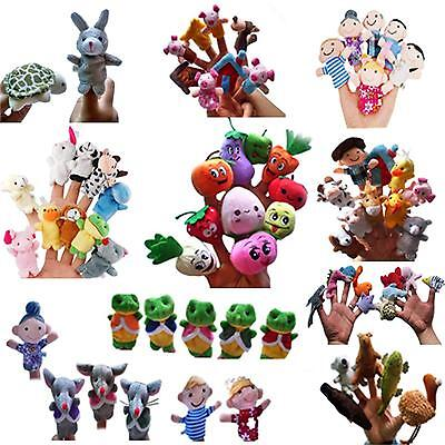 Family Finger Puppets Cloth Doll Baby Kid Educational Hand Animal Toy Story