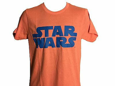 Star Wars Coral and Blue Logo Vintage Classic Movie Men's T shirt NWT S-2XL