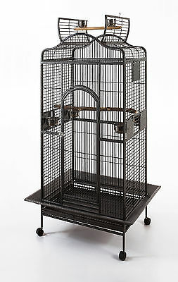 Bird Parrot cage Macaw Cockatoo African Grey Q24-2822 - Black Vein