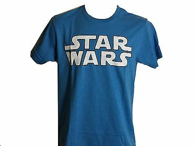 Star Wars White and Turquoise Logo Vintage Classic Movie Men's T shirt NWT S-2XL