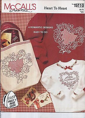 McCall's Creates #15110 - Heart to Heart - Press 'n' Paint Guide