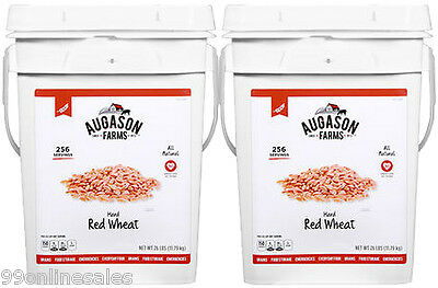 Augason Farms Hard Red Wheat 52 lbs Emergency Survival Food Storage Bucket Pail