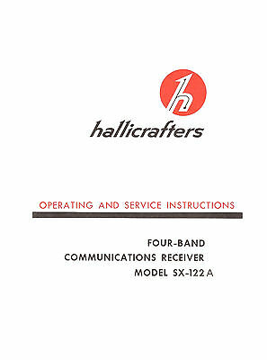 Hallicrafters SX-122A Operating & Service Manual Reprint