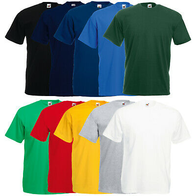 5er/10er FRUIT OF THE LOOM T-SHIRT VALUEWEIGHT HERREN SHIRT TSHIRTS GR. S - 5XL