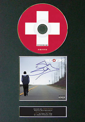 EMINEM Recovery Signed Autograph CD & Cover Mounted Print A4 23