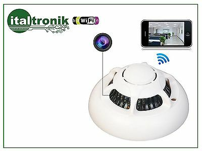 Telecamera Ip Wifi Direct Point-To-Point Nascosta Rilevatore Fumo Iphone Android