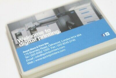 BUSINESS CARD '250 MICRON' (2 x 125) BADGE LAMINATING POUCHES 54 x 86 OR 60 x 90