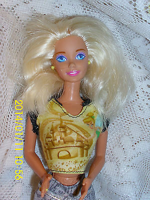 BARBIE DOLL 1966 INDONESIA BLOND  BLUE EYES  RING FINGER  EARRINGS  TINKER BELL