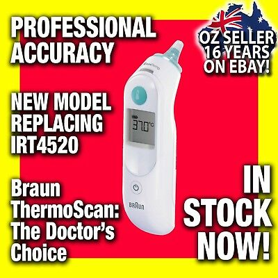 BRAUN Thermoscan 5 IRT6020/6500 Ear Thermometer for Baby, Child + Adult IRT4520