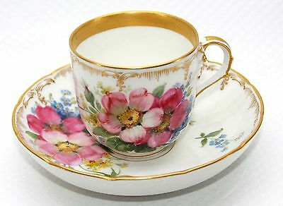 Porcelain Coffee Set of KPM Hand painted flowers first choice