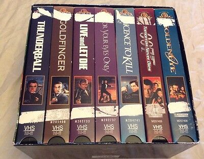 James Bond Collection 007 Gift Set - Vol. 1 (VHS, 1999, 7-Tape Set) Preowned