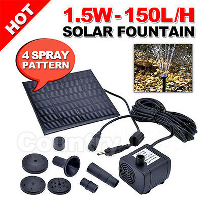 OZ A Set of Water Solar Pump Fountain Pond Pool Power Kit Submersible Garden