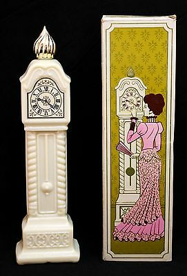 AVON Fragrance Hours Grandfather Clock Decanter Issued 1971-73 With Box (Empty)