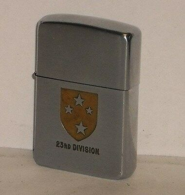 ZIPPO 1950'S PAT.2517191 MILITARY 23RD DIVISION LIGHTER WORKS MATCHING INSERT