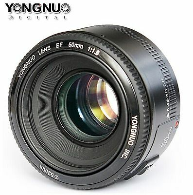 YONGNUO YN50MM F1.8 lens Large Aperture Auto Focus For Canon EF EOS Camera
