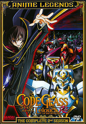 Code Geass Lelouch of the Rebellion: R2 -The Complete 2nd Season (DVD 2012) New!