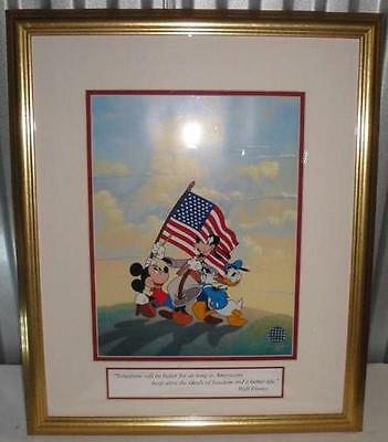 Walt Disney's Spirit of America Limited Edition Sericel with COA Mickey Mouse