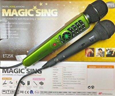 NEW MAGIC SING ET-25K 2300 Tagalog & English Songs Free DUET WIRED MICROPHONE