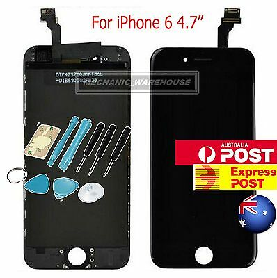 """Black OEM LCD Display Touch Screen Digitizer Lens Assembly for iPhone 6 4.7"""" AU"""