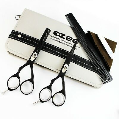Hairdressing Hair Cutting Thinning Barber Saloon Scissors Set LEFT-HAND + Case