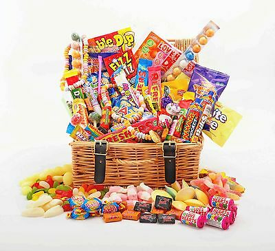 Deluxe RETRO Sweet Hamper Large Gift Box Choice of Size Birthday Valentine Thank