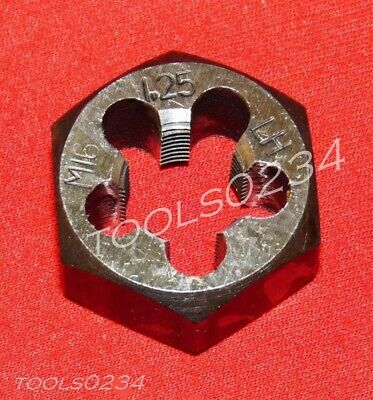"High Quality M16 X 1.25 16MM LEFT HAND Metric 1.3"" Hex Rethread Die Carbon Steel"