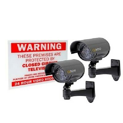 Q-See Decoy Cameras with Warning Sign (2-Pack) QSSIGD2 / 1000025900