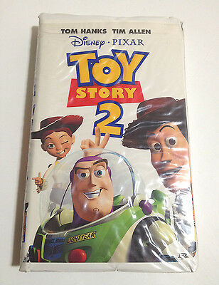 Disney Pixar TOY STORY 2 Movie VHS Home Video Clamshell Case - Woody, Buzz