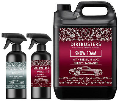 Car Candy Snow Foam shampoo alloy wheel cleaner and waterless wash and wax