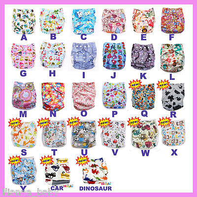 5 x Resuable Clothes Nappies - One Size fit all  - you pick the colours