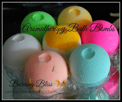 Aromatherapy Bubble Bath Bombs Coconut Oil + FREE BUBBLEGUM BATH SALTS Pack of 7