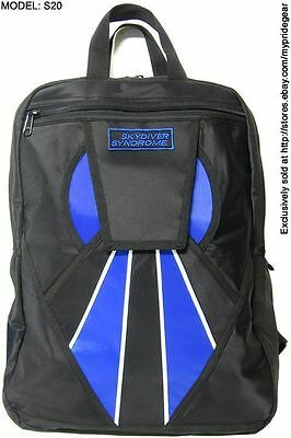 Large Skydiver Syndrome Backpack Parachute Mini Rig Gear Bag Container Blue S20