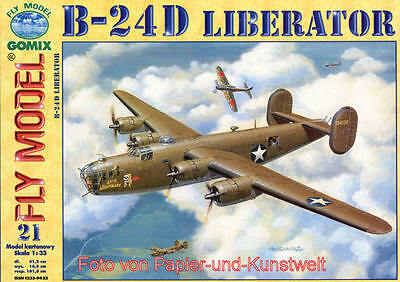 """FLY Model  21 - Consolidated B-24 D """"Liberator"""" - 1:33"""