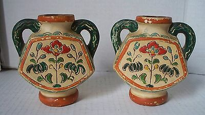 pair of occupied japan pottery vases made in occupied japan