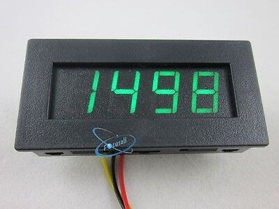 Green Digital Motor RPM Tachometer Speed Measure Meter panel 5-9999 LED Display