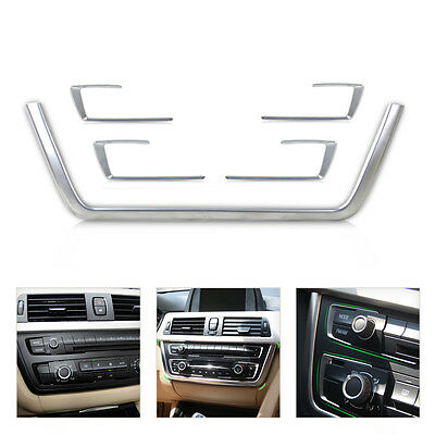 Chrome Console Button & Outline Cover Trim for 2013-2015 BMW 3 4 Series F30 F31