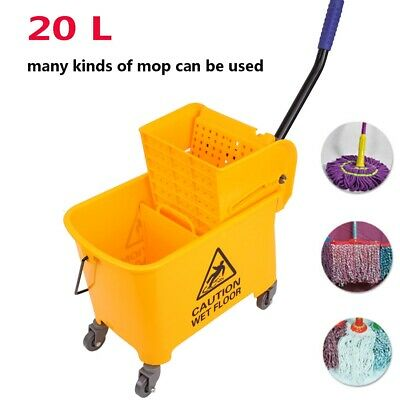Rubber Bucket Wringer Mop Bucket Yellow Commercial Combo 20L Commercial