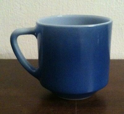 Vintage Federal Milk Glass Blue Coffee Mug Same Look As Fire King