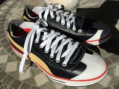Men's Puma Club 917 idCell Golf Shoes - US 7.5 Black Gold Red Worn Once