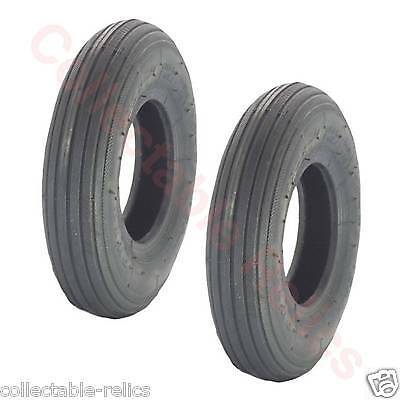 2X Tyres 200X50 Black Wheelchair Trolley Electric Mobility Scooter 200 x 50 929