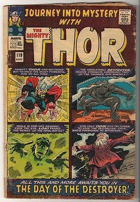 Marvel Comics G+ THOR #119 Journey into mystery  KIRBY DESTROYER