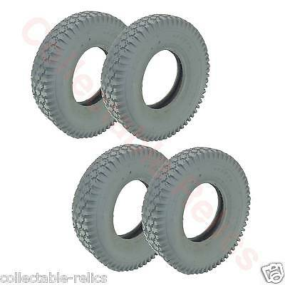 4X Tyres 3.00-4 Ply 260 85 Grey Wheelchair Trolley Electric Mobility Scooter 936