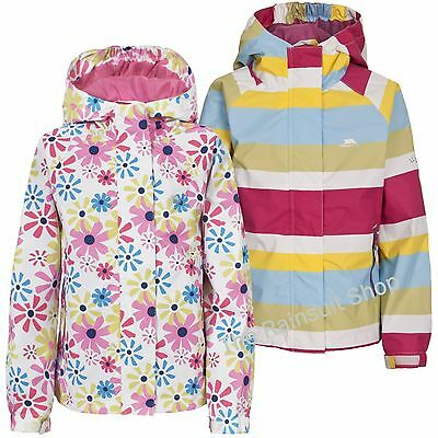 TRESPASS GIRLS WATERPROOF POPSTAR HOODED RAIN JACKET COAT KIDS CHILDS   3-12yrs
