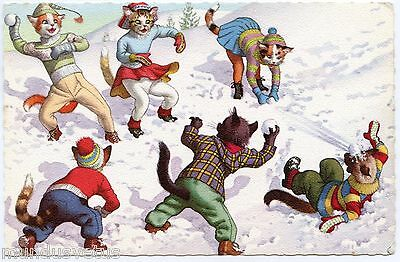 CHATS HUMANISéS. HUMANIZED CATS. WINTER. style A. MAINZER
