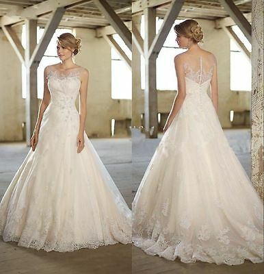 2015 New White/Ivory Sweetheart A-Line Applique Wedding Dress Custom All Size