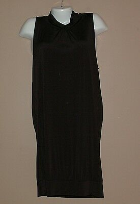 NEW WOMENS CHARLOTTE RUSSE BLACK SEXY DRAPE  OPEN BACK DRESS SIZE LARGE CLUB
