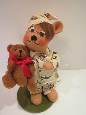 "Adorable Annalee Bear ""Ready For Bed"" carrying Teddy Bear 8"" Tag"