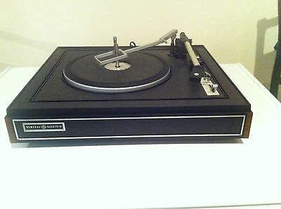 VINTAGE GENERAL ELECTRIC 9-8105CA910A 3 SPEED 33,45,78,RECORD PLAYER TURNTABLE